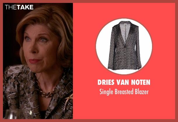 Dries Van Noten blazer from The Good Wife seen with Diane Lockhart (Christine Baranski)