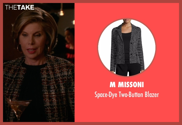 M Missoni blazer from The Good Wife seen with Diane Lockhart (Christine Baranski)