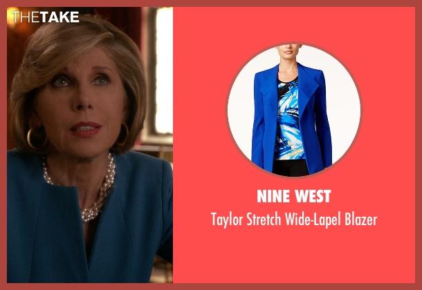 Nine West blue blazer from The Good Wife seen with Diane Lockhart (Christine Baranski)