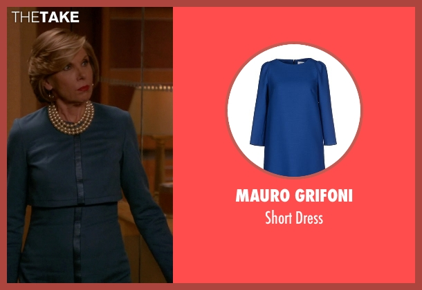 Mauro Grifoni blue dress from The Good Wife seen with Diane Lockhart (Christine Baranski)