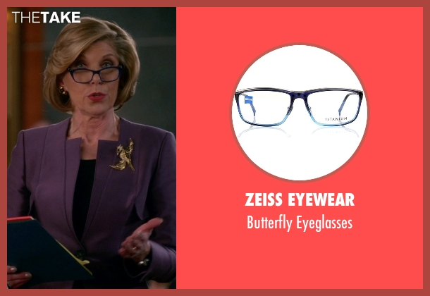 Zeiss Eyewear blue eyeglasses from The Good Wife seen with Diane Lockhart (Christine Baranski)