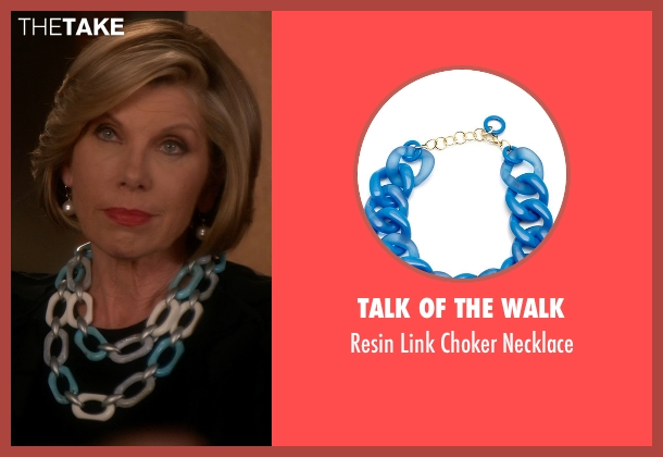Talk Of The Walk blue necklace from The Good Wife seen with Diane Lockhart (Christine Baranski)