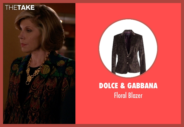 Dolce & Gabbana brown blazer from The Good Wife seen with Diane Lockhart (Christine Baranski)