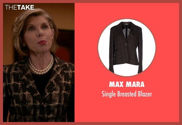 Max Mara brown blazer from The Good Wife seen with Diane Lockhart (Christine Baranski)