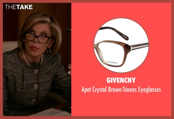 Givenchy brown eyeglasses from The Good Wife seen with Diane Lockhart (Christine Baranski)