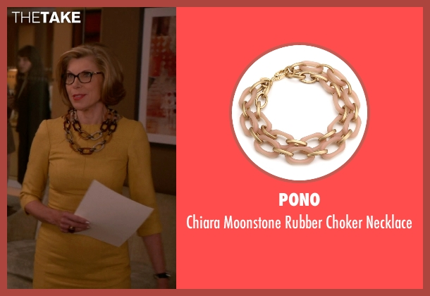 Pono brown necklace from The Good Wife seen with Diane Lockhart (Christine Baranski)