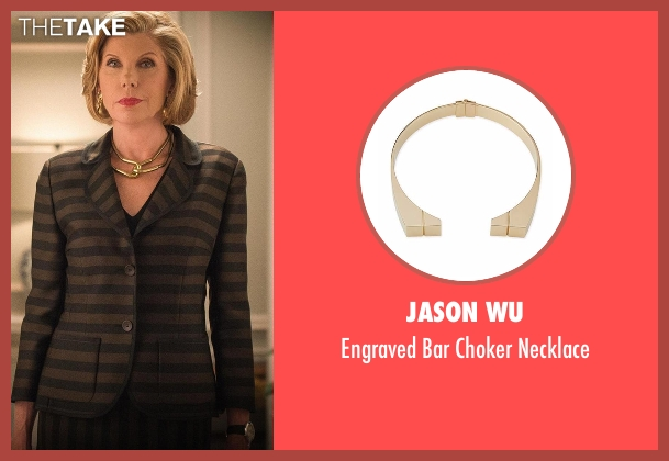 Jason Wu gold necklace from The Good Wife seen with Diane Lockhart (Christine Baranski)