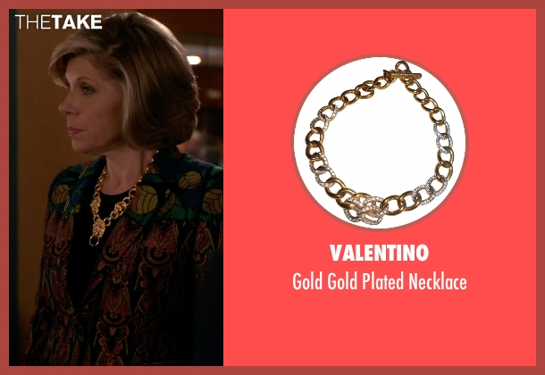 Valentino gold necklace from The Good Wife seen with Diane Lockhart (Christine Baranski)