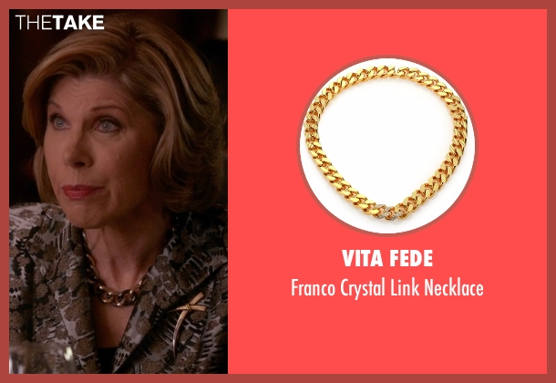 Vita Fede gold necklace from The Good Wife seen with Diane Lockhart (Christine Baranski)