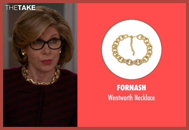 Fornash gold necklace from The Good Wife seen with Diane Lockhart (Christine Baranski)