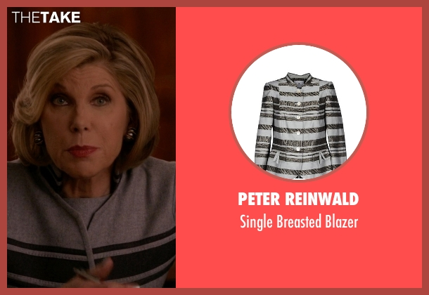 Peter Reinwald gray blazer from The Good Wife seen with Diane Lockhart (Christine Baranski)