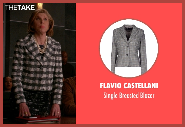 Flavio Castellani gray blazer from The Good Wife seen with Diane Lockhart (Christine Baranski)