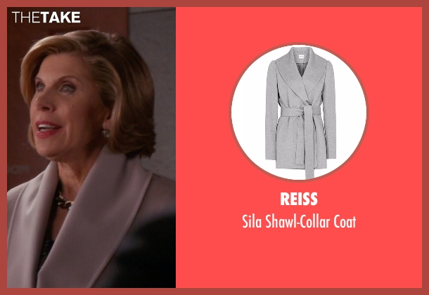 Reiss gray coat from The Good Wife seen with Diane Lockhart (Christine Baranski)
