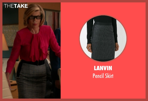 Lanvin gray skirt from The Good Wife seen with Diane Lockhart (Christine Baranski)