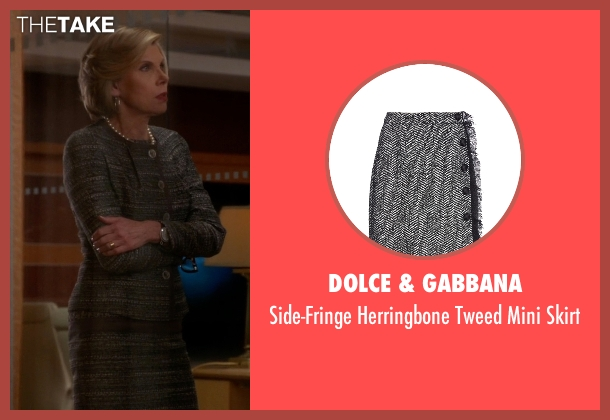 Dolce & Gabbana gray skirt from The Good Wife seen with Diane Lockhart (Christine Baranski)