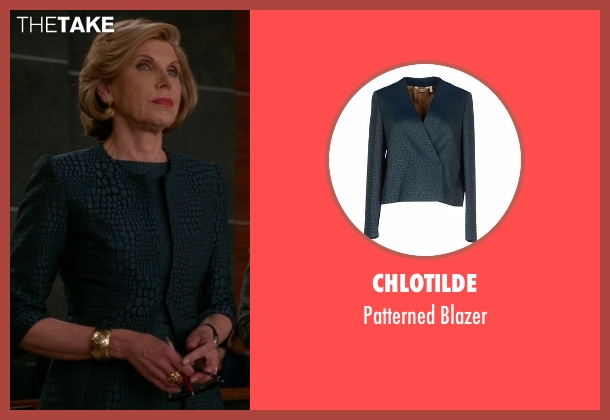 Chlotilde green blazer from The Good Wife seen with Diane Lockhart (Christine Baranski)