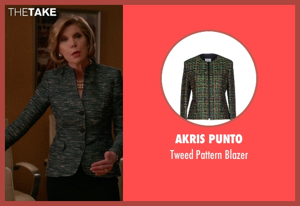 Akris Punto green blazer from The Good Wife seen with Diane Lockhart (Christine Baranski)