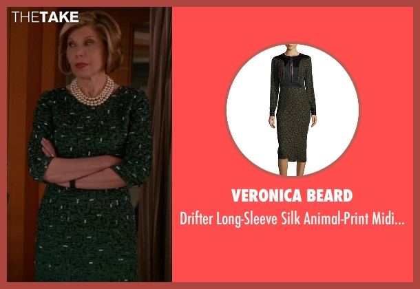 Veronica Beard green dress from The Good Wife seen with Diane Lockhart (Christine Baranski)