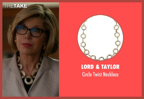 Lord & Taylor necklace from The Good Wife seen with Diane Lockhart (Christine Baranski)