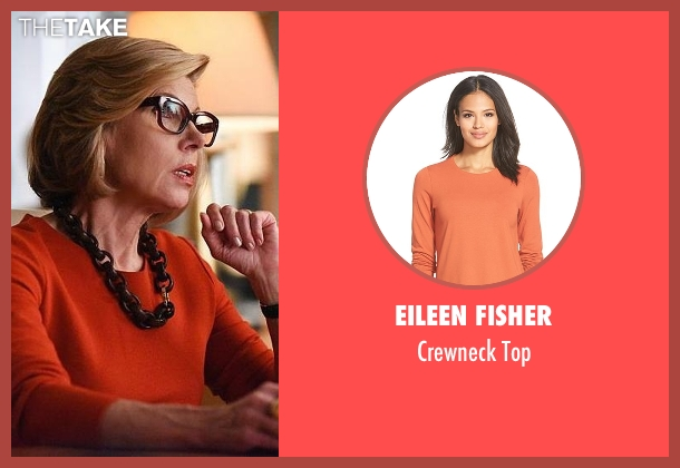 Eileen Fisher orange top from The Good Wife seen with Diane Lockhart (Christine Baranski)