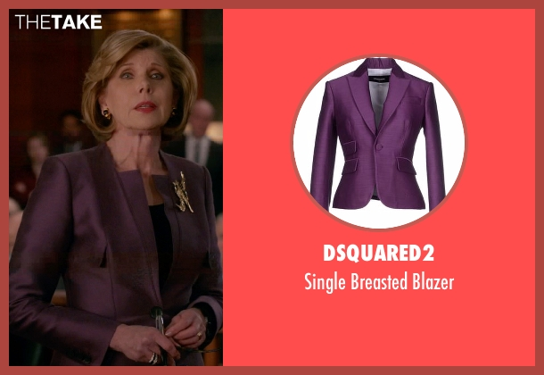 Dsquared2 purple blazer from The Good Wife seen with Diane Lockhart (Christine Baranski)