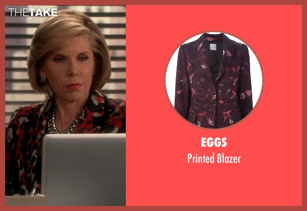 Eggs red blazer from The Good Wife seen with Diane Lockhart (Christine Baranski)