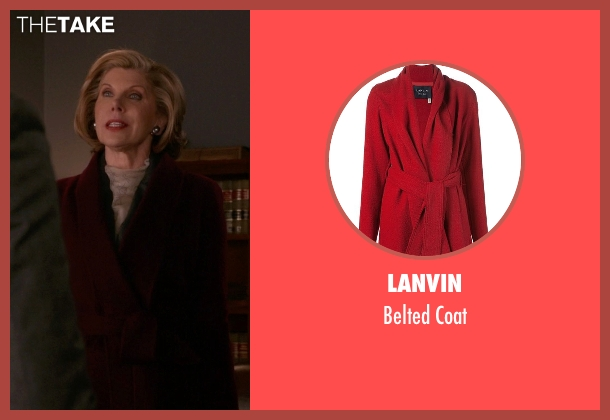 Lanvin red coat from The Good Wife seen with Diane Lockhart (Christine Baranski)