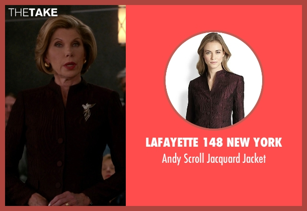 Lafayette 148 New York red jacket from The Good Wife seen with Diane Lockhart (Christine Baranski)