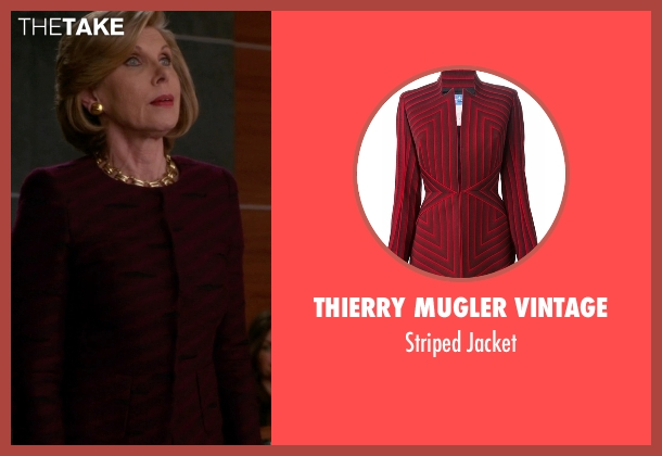 Thierry Mugler Vintage red jacket from The Good Wife seen with Diane Lockhart (Christine Baranski)