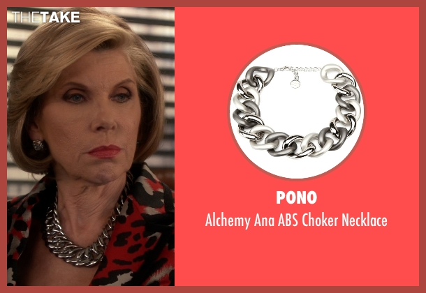 Pono silver necklace from The Good Wife seen with Diane Lockhart (Christine Baranski)