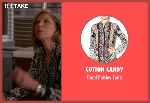 Cotton Candy tunic from The Good Wife seen with Diane Lockhart (Christine Baranski)
