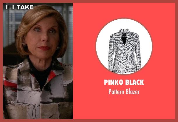 Pinko Black white blazer from The Good Wife seen with Diane Lockhart (Christine Baranski)