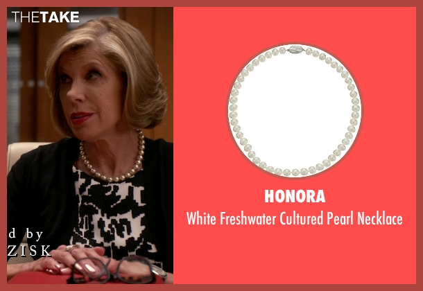 Honora white necklace from The Good Wife seen with Diane Lockhart (Christine Baranski)