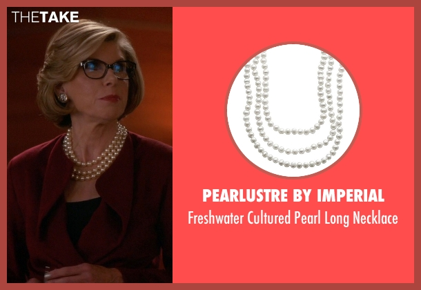 Pearlustre By Imperial white necklace from The Good Wife seen with Diane Lockhart (Christine Baranski)