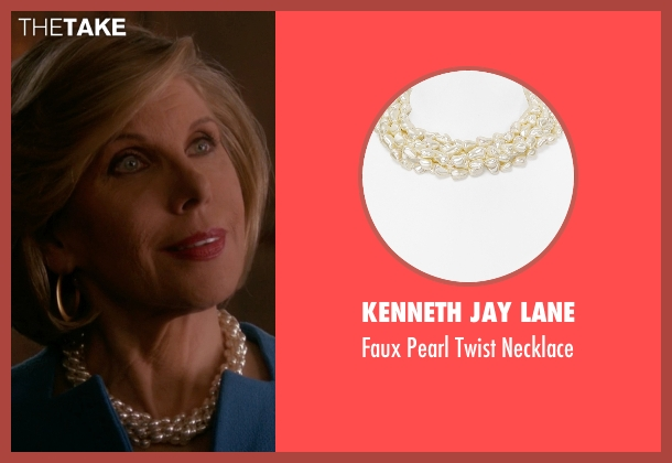 Kenneth Jay Lane white necklace from The Good Wife seen with Diane Lockhart (Christine Baranski)
