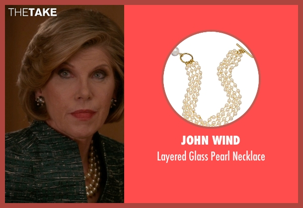 John Wind white necklace from The Good Wife seen with Diane Lockhart (Christine Baranski)