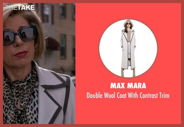 Max Mara white trim from The Good Wife seen with Diane Lockhart (Christine Baranski)