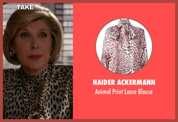 Haider Ackermann yellow blouse from The Good Wife seen with Diane Lockhart (Christine Baranski)