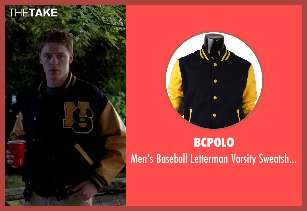 BCPOLO black jacket from Mean Girls seen with Diego Klattenhoff (Shane Oman)