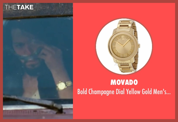 Movado gold watch from Contraband seen with Diego Luna (Gonzalo)