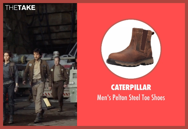 Caterpillar brown shoes from Rogue One: A Star Wars Story seen with Diego Luna (Captain Cassian Andor)