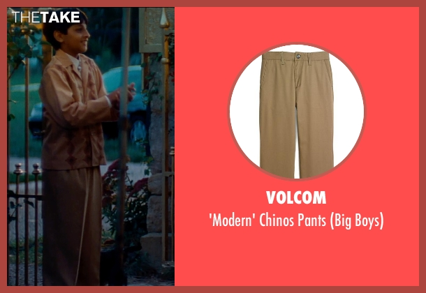 Volcom brown pants from The Hundred-Foot Journey seen with Dillon Mitra (Mukthar Kadam)