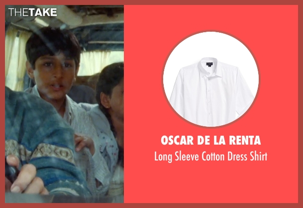 Oscar de la Renta white shirt from The Hundred-Foot Journey seen with Dillon Mitra (Mukthar Kadam)