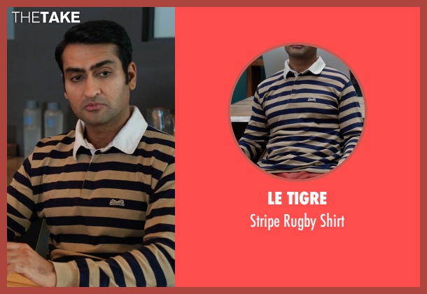 Le Tigre blue shirt from Silicon Valley seen with Dinesh Chugtai (Kumail Nanjiani)
