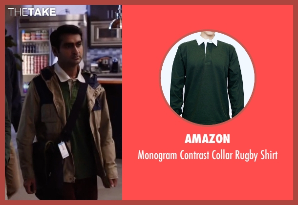 Amazon green shirt from Silicon Valley seen with Dinesh Chugtai (Kumail Nanjiani)