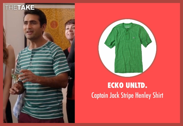 Ecko Unltd. green shirt from Silicon Valley seen with Dinesh Chugtai (Kumail Nanjiani)