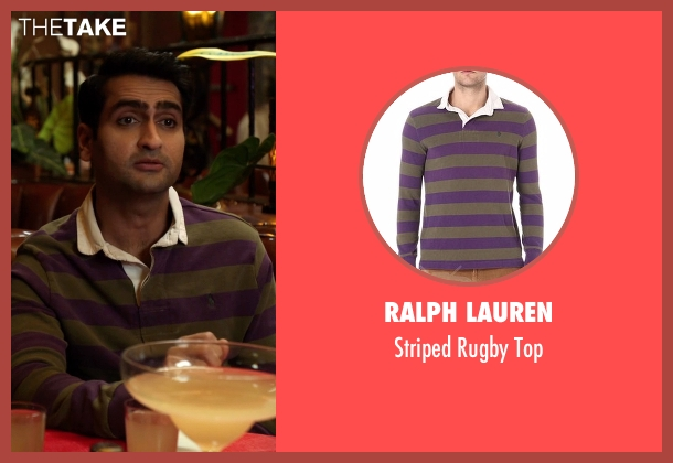 Ralph Lauren green top from Silicon Valley seen with Dinesh Chugtai (Kumail Nanjiani)