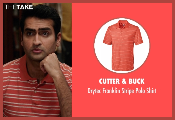 Cutter & Buck orange shirt from Silicon Valley seen with Dinesh Chugtai (Kumail Nanjiani)