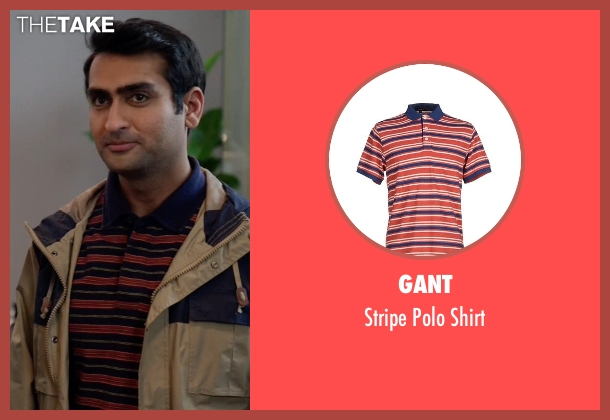 Gant red shirt from Silicon Valley seen with Dinesh Chugtai (Kumail Nanjiani)