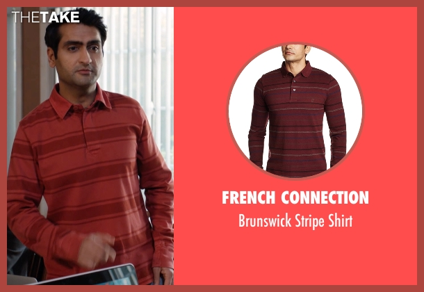 French Connection red shirt from Silicon Valley seen with Dinesh Chugtai (Kumail Nanjiani)